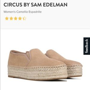 🖤New Taupe/Beige Circus Espadrilles Women's 8